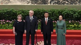 Zemanovi v Číně: Spolu s prezidentem Si Ťin-pchingem a jeho chotí