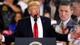 Trump podle médií tlačil na FBI, aby zastavila vyšetřování jeho odvolaného poradce Flynna.