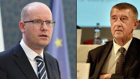 Premiér Bohuslav Sobotka (ČSSD) se chystá odvolat Andreje Babiše (ANO).