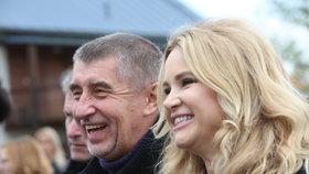 Andrej a Monika Babišovi na Čapím hnízdě
