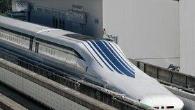 Rychlovlak v Japonsku, který při testovací jízdě překonal rychlost 500 kilometrů v hodině.