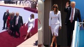 Trump chtěl chytit manželku za ruku, ta ho plácla