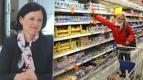 Jourová chce zatočit s nekvalitními potravinami v Česku.