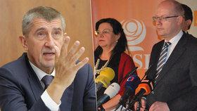 Babiš kritizoval premiéra a ministry z ČSSD, kteří se do něj pustili kvůli rozpočtu.