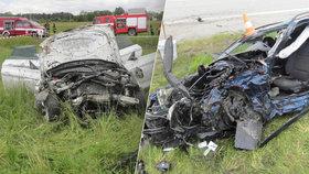 Tragická nehoda dvou BMW u Dolního Dvořiště: Oba řidiči zemřeli po čelní srážce.