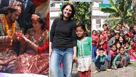 Michaela (30) zařídila dětem v Nepálu dětský domov.