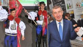 Andreje Babiše a jeho EET vyhlásili při Jízdě králů ve Vlčnově.