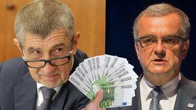Andrej Babiš a Miroslav Kalousek se neshodnou, zda se v Česku má platit eurem, či nikoli