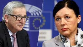 Věra Jourová a Jean-Claude Juncker
