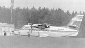 Unesené L-410 OK-ADN na letišti ve Weidenu