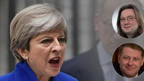 Mayová utrpěla brutální porážku, míní někdejší státní tajemník pro evropské záležitosti Tomáš Prouza. Podle politologa Josefa Mlejnka to oslabí její pozici při vyjednávání o brexitu.