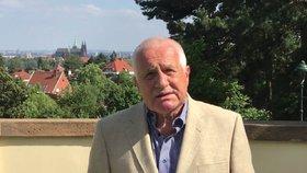 Václav Klaus vystoupil v reakci na jednání Evropské komise s výzvou začít připravovat odchod ČR z EU