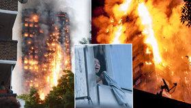 Požár bytového domu v Londýně