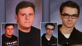 Studentům v ročence zmizely nápisy z triček.