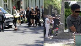 Pohřeb zastřeleného Roma byl plný emoci. Dvěma ženám musela být přivolána sanitky, pomáhala i policejní psycholožka