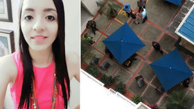 Mladou lékařku padající tělo studentky na místě zabilo.