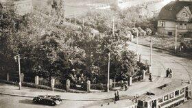 Ulice v Holešovičkách v Praze. Místo atentátu na Heydricha.