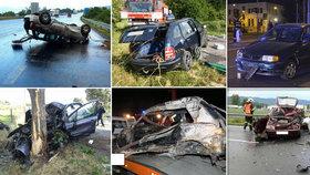 Nejtragičtější týden na silnicích: Zahynulo 21 lidí, z toho 12 jen za víkend.
