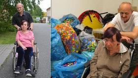 Invalidní vozík, který Vlaďka používá, jí deformuje páteř.