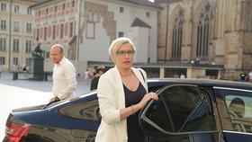 Ministryně Karla Šlechtová dorazila na oslavu.