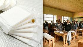 Keňské dívky v době menstruace často zameškávaly školu.