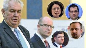 Politici se nevybíravě vyjádřili o výroku Zemana směrem k Sobotkovi.