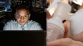 Muž skrytou kamerou šmíroval kolegyni, jak si odstřikuje mléko. Čeká ho soud. (ilustrační foto)
