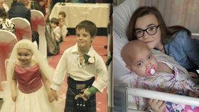Pětiletá Eileidh Paterson si splnila své největší přání - provdala se za kamaráda. Bohužel podlehla zákeřné rakovině.