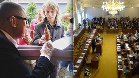 Místo pátečního jednání Sněmovny zamířil Babiš do Liberce rozdávat zmrzlinu.