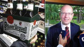Japonci koupili plzeňský pivovar a chystají vývoz plzeňského piva do své země, premiér Sobotka to kvituje.