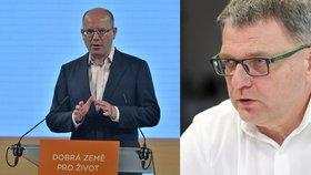 Bývalý šéf ČSSD Bohuslav Sobotka (vlevo) a volební lídr strany Lubomír Zaorálek
