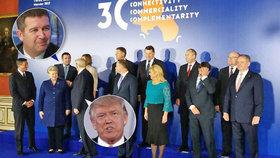 Česko zastupoval na schůzce s Trumpem ve Varšavě šéf Sněmovny Jan Hamáček.