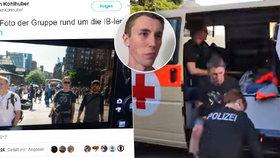 Ve špatný čas na špatné fotce: Antifa při protestech v Hamburku napadla novináře.