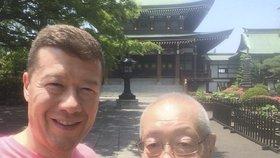 Tomio Okamura se svým otcem v Japonsku
