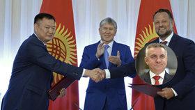Za firmu, která má stavět v Kyrgyzstánu, se přimluvil Mynář, informují české weby.