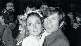 Sharon Tate s manželem Romanem Polanskim.