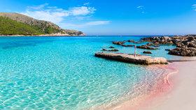 Pláž Cala Agulla, Mallorca (Španělsko)