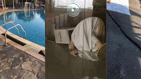 Fotografie z hotelu na Kosu, které pořídila česká turistka.