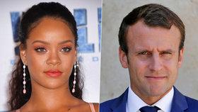 Rihanna chtěla od Francie podporu pro svou nadaci. Ptala se samotného Macrona.