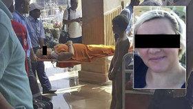 Lenka pobodaná v Egyptě zemřela.