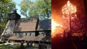 Obnova vyhořelého kostelíku v Gutech: K zemi jdou mohutné smrky staré 130 let, budou z nich šindele