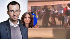 Manžela europoslankyně v Bruselu srazilo auto. Do vlasti ho přivezl vládní speciál.