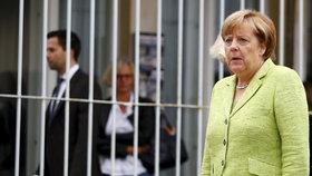 Angela Merkelová v bývalé vazební věznici východoněmecké tajné služby