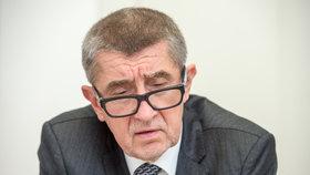Šéf hnutí ANO Andrej Babiš se zlobí na policii.