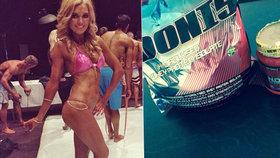 Fitness modelku zabily proteinové nápoje.