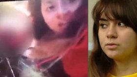 Obdulia Sanchez, která v opilosti zabila svou sestru, tvrdí, že videa z auta vysílá živě každý.