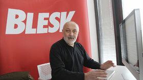 Psycholog Miloslav Čedík v redakci Blesku.