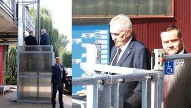 Prezident Miloš Zeman na akci Sportovní hvězdy dětem v Tenisovém klubu Sparta Praha