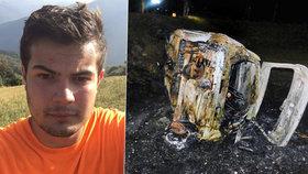 Student Filip (†18) uhořel zaklíněný v autě, se kterým havaroval jeho kamarád.
