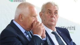 Prezident Miloš Zeman a Václav Klaus na Zemi živitelce
